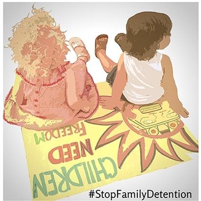 Centros De Detención Frontera Refugiados Familias Inmigrantes