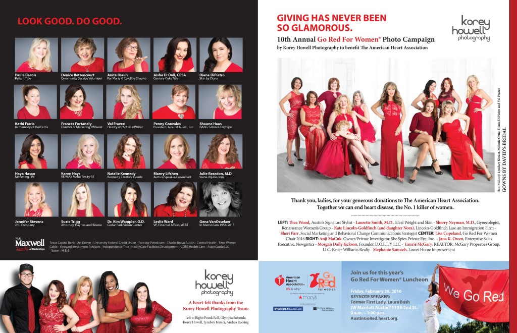 Go Red for Women Photo Campaign