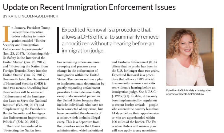 Austin immigration attorney Recent immigration enforcement